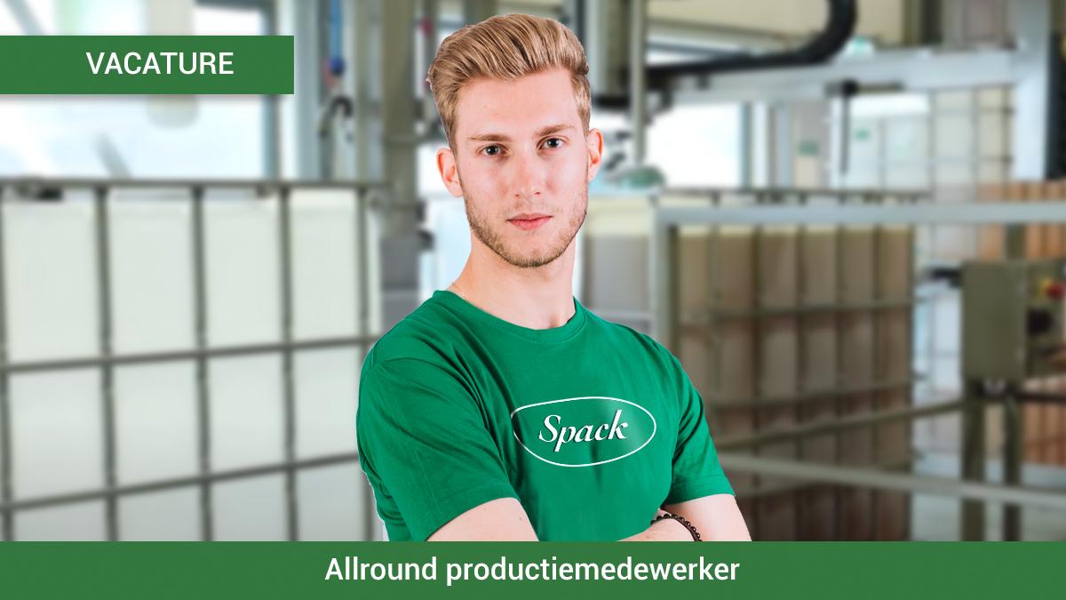 Vacature - Allround productiemedewerker Spack BV